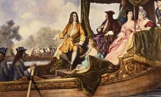 Haendel-presentant-Water-Music-au-roi-George-I