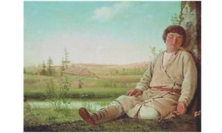 Aleksei-Venetsianov-romantisme-russe-Le-berger-endormi