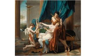 neo-classicisme-Jean-louis-David-sapho-paon-et-l-amour-1809