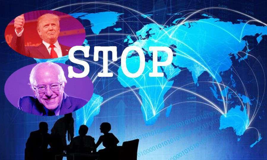 Donald Trump, Bernie Sanders : contre le libre échange