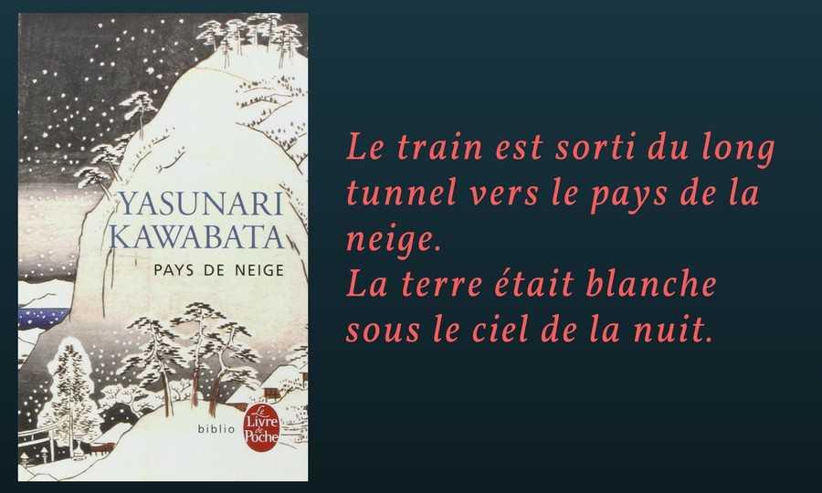 Kawabata :  Pays de neige