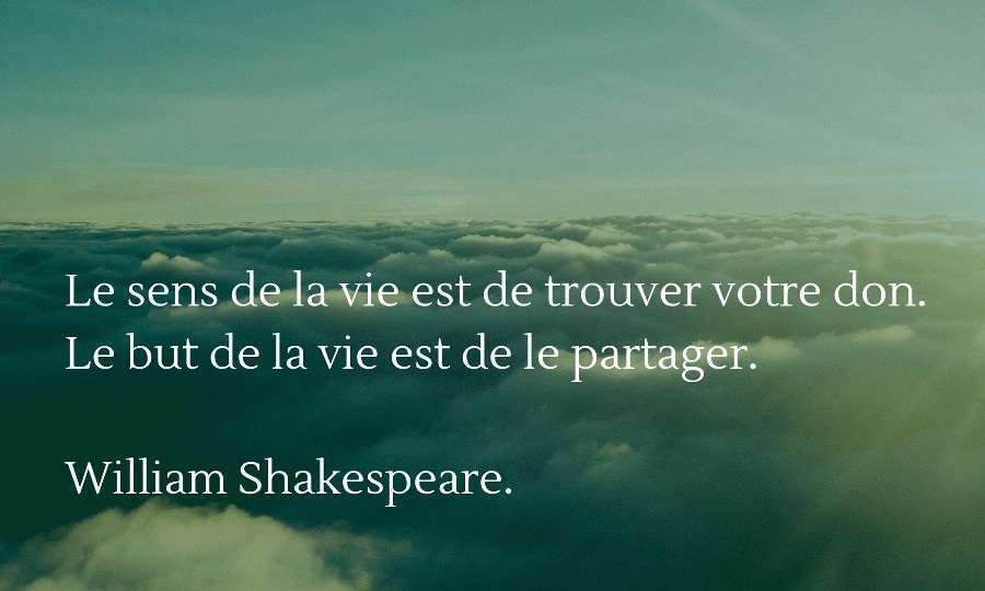 citation sens de la vie shakespeare