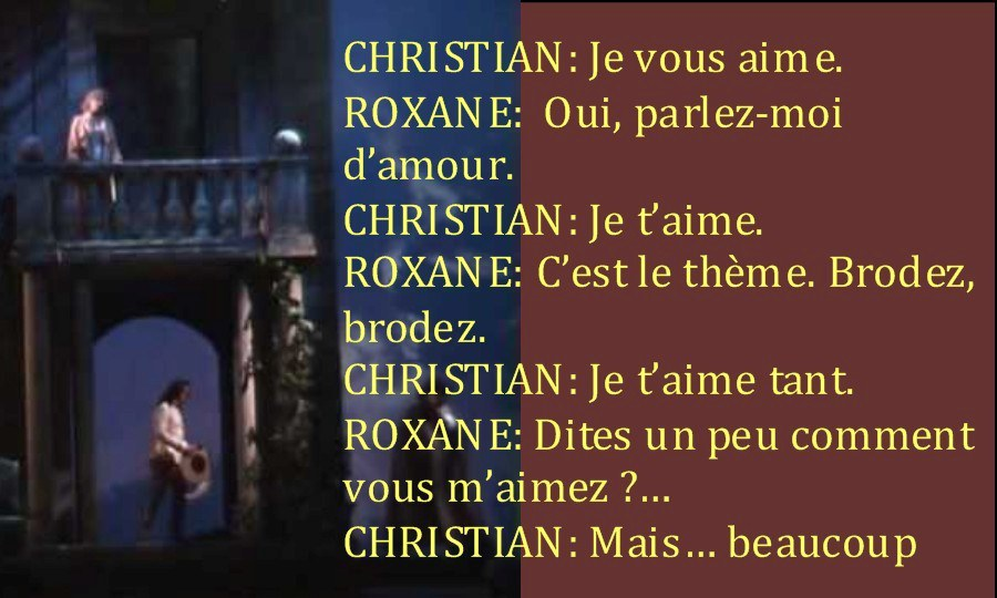 Christian Dating disant Je t'aime