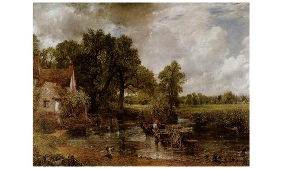 John Constable, The Hay Wain (charrette de foin), 1821