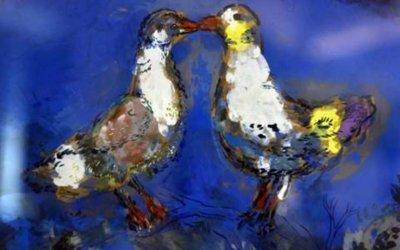 Chagall deux pigeons