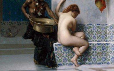 Jean-Leon Gerome, Bain turc ou bain maure 1870 orientalimse